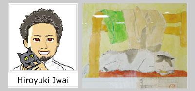 院長イメージと院長の描いた猫